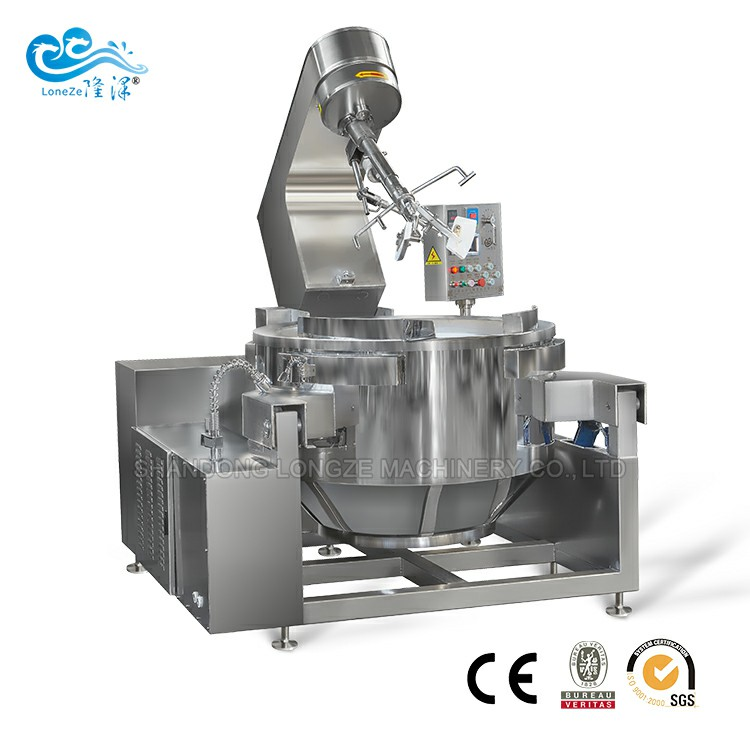 Industrial Automatic Stir Fry Electromagnetic Cooking Mixer