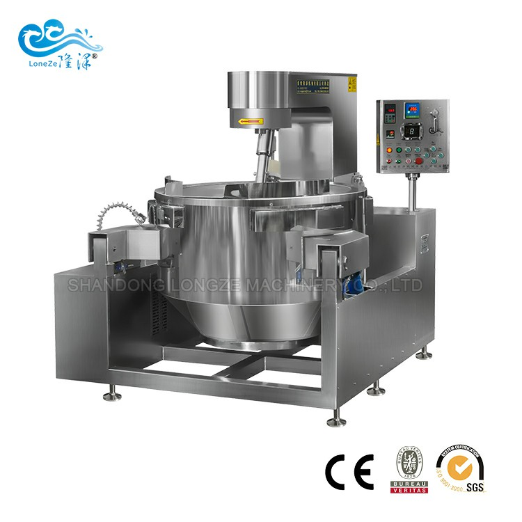 Industrial Automatic Chinese Medicine Stir-fry Cooking Mixer Machine